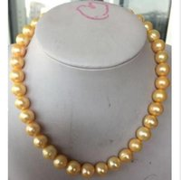 Wholesale Charming MM Australian south sea yellow pearl necklace quot k gold clasp