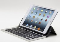 aluminum keyboard stand - Bluetooth Keyboard For Iphone For IOS Andriod Microsoft Tablet And Cellphone Wireless Aluminum Folding Keyboards Stand Holder F18 F2