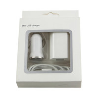 apple car kits - 3 in Kit US EU Wall Adapter Home Charger Micro USB Cable Car Charger with retail package for Samsung Galaxy S3 S4 S5 pc