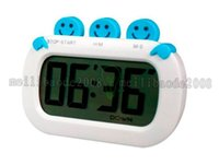 alarm products - Smile Face Shape Digital Kitchen Timer With Clock And Loud Alarm Countdown UP Digital LCD Timer Product MYY