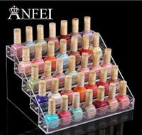 acrylic nail polish rack - 5 Tiers Cosmetic Makeup Nail Polish Varnish Display Stand Rack Holder Booking Jewelry Acrylic Packaging Organizer Storage Box