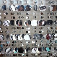 Wholesale M Silver and white sequined curtain glitter decoration festival stage background curtains