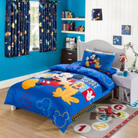Wholesale Students Bedding Mickey Minnie mouse boys Girls Bedding Set Children s Gift BED SHEET DUVET COVER TT08