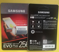 Wholesale Free DHL shipping Samsung EVO PLUS GB Micro sd TF Memory Card C10 Flash SDHC SD Adapter SDHC Package GB High speed download