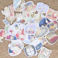 al por mayor llevar álbum de fotos-40pcs Auto-hecho lindo conejo animales Scrapbooking pegatinas decorativos DIY artesanía álbumes de fotos Decalques Diario Deco