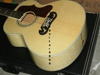 acoustic electric guitar brands - New Factory Chibson J200 flame maple acoustic guitar J200 electric acoustic Deluxe guitar spruce top acoustic