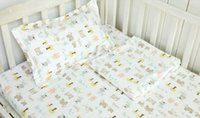 Wholesale Ran Beibei baby cotton twill AB Edition combed cotton bedding baby cotton three piece
