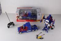 Wholesale RC Car Robot Truck Remote Control Transforming Autobot Super Prime Leader Autobots Kid s Chidren Car Robot Christmas Gift Toys TXA1001