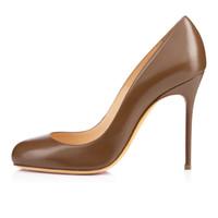 Wholesale Zandina Ladies Womens Handmade Fashion FeiFei mm Cute Basic High Heels Party Office Pumps Shoes Chocolate