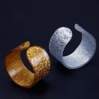 Wholesale mm Round Golden Silver Acrylic Napkin Rings Napkin Holder For Wedding Hotel Home Accessories