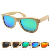 bamboo wooden shades - Retro hawkers sunglasses full bamboo frame for women and men driving sunglasses polarized shades with spring hinge gafas de sol