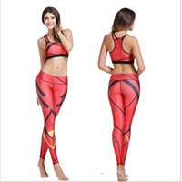 achat en gros de womens gilets rouges-Rouge rayé noir imprimé vêtements pour femmes Camisoles imperméable Réservoirs Running Singlet Vest soutien-gorge Sport Sports Tank Digital Print Yoga Outfits