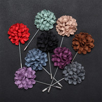 Wholesale New Stick Brooch Roses Male Brooches Female Party Suit Dress Mens Accessories leather Flowers Lapel Pins boutonniere fabric pin