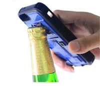 bag opener - Multifunctional Armor Case Bottle Opener Cigarette Lighter Shatterproof Back Cover Case For IPhone s SE OPP Bag