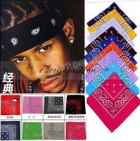 Wholesale Fashion Paisley Design Novelty Sport Cycling Magic Anti UV Bandana Headband Scarf Hip Hop Multifunctional Bandana Wristband Headscarf Z247 B