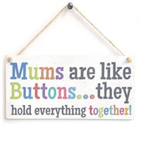 Wholesale Hanging plaque signs Mums are like buttons they hold everything togeather Wooden Sign Gift for your great Mum
