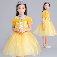bell halloween costumes - Girl Princess bell Dress kids costumes t cosplay kids carnival clothes cartoon dress party clothing Child formal dress
