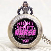 best nurses watch - Fashion Night Shift Nurse Theme Glass Dome Pocket Watch With Necklace Chain Best Gift For Nurse