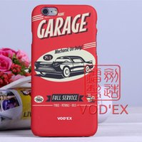 antique mobile phone - Vodex cases red antique car garage Apple fluorescent water mobile phone protection shell D relief iPhone7 P p