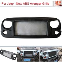 Wholesale Car Styling New Black ABS Avenger Grille With Bug Screen For Offroad Wrangler