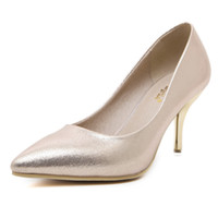 Wholesale Women High heeled Shoes Woman Fashion Wedding Shoes Sexy Women Shoes Gold Office Shopping High Heels Ladies Shoe Women Party Shoe