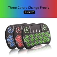 Wholesale Colorful Mini Rii i8 Backlit Backlight GHZ Wireless Keyboard Air Fly Mouse Remote Control Touchpad Handheld for TV BOX x96 mxq t95