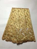 al por mayor vestidos de encaje guipur-Tela africana del cordón de la red del estilo de la tela del cordón de Guipure Tulle para el vestido de boda Precio al por mayor libre JY-3321 del envío