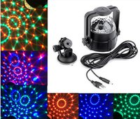 Wholesale Stage Lights kty effect W Rotating Mini Magic disco ball car DJ Home Party USB socket LED Crystal Magic Ball Lamp DC V