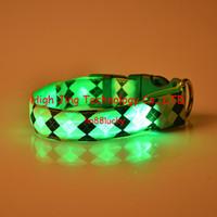 basic decor - LED Dog Collar Safety Nylon Night Light Necklace For Dog Cat Glowing in the dark Flashing Pet Decor Producto