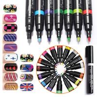 Wholesale Nail Art Pen D Design Nail Beauty Tools Paint UV Gel Polish Art Design Drawing Tool DIY Decoration Painting Pens Tools Manicures ZA1630