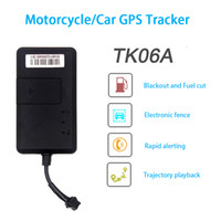 Wholesale Car GPS Tracker TK06A SMS GSM GPRS Vehicle Tracking Device GT02A Monitor Locator Remote Control for Motorcycle Scooter system