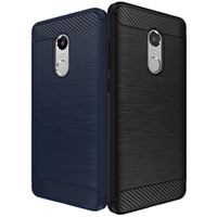 armor pattern - iPaky Xiaomi Redmi Note Brushed Case Carbon Fiber Pattern TPU Mobile Phone Case for Redmi Note Rugged Armor Case