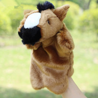 0-12 Months baby horses sale - Hot Sale Plush Puppet Cute Horse Hand Puppet Animal Plush Doll Toys For Kids Baby Birthday Christmas Gifts