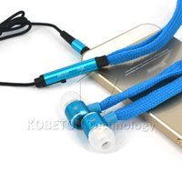 Wholesale Stereo Bass In Ear mm Shoelace Earphone Headphone Headset Earbuds For iPhone Plus s for Samsung S3 S4 Note with MIC