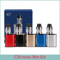 Wholesale ECT C30 mini W starter kits mah box mod e cigarette ml electronic cigarette e shisha mod ohm no leaking c30mini