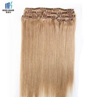 ash hair colors - Color Ash Blonde Extension Clip in Human Hair Extensions Silky Straight High Quality Raw Indian Virgin Remy Hair g set inch