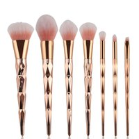 Wholesale 7pcs set Makeup Unicorn Brushes Set Professional Blush Powder Eyebrow Eyeshadow Rose Gold Fashion Make Up Brush Nylon Hair Cosmetic Brush