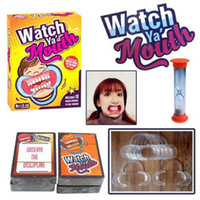 Wholesale 48pcs Party Game Board Game Watch Ya Mouth Game cards mouthopeners Family Edition Hilarious Mouth Guard