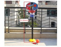 adjustable basketball stand - New style adjustable height children basketball stands indoor fitness toy sports toy Christmas birthday gift A33008
