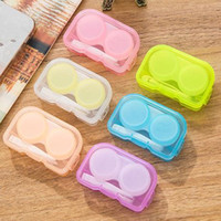 Wholesale Eyeglasses Case Cute Mini Contact Lens Easy Carry Case Travel Kit Plastic Contact Lens Storage Soaking Cases L R Marked JF