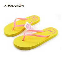 Spool Heel animal house slippers - Women s Sandals Summer Beach Flip Flops Lady Slippers New Fashion Beach Casual Home House Slipper Platform Flat Leisure