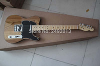 Wholesale Top quality New style Arrival Natural wood color telecaster Electric Guitar Black tipping in stock