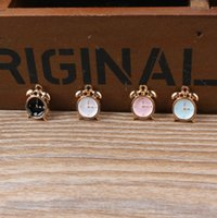 alarm pendant - Alarm Clock Floating Enamel Charm Alloy Pendant Fit For Necklace Bracelet DIY Female Fashion Jewelry Accessories