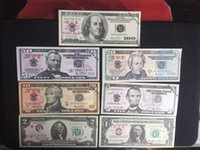 Paper Home Decor Wholesalers Usa 7pcs Usa Dollar Training Banknote Props Money Home Decor Art