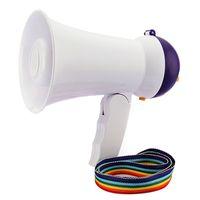best megaphone - Newest Best Price Mini Portable Megaphone Foldable Bullhorn Handheld Grip Loud Clear Voice Amplifier Loudspeaker