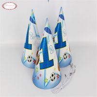 basketball party decorations - Printed Basketball Sports Series Paper Hat Party Caps Festival Birthday Decoration Kids Party Gifts For Guests