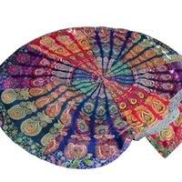 beach blankets - Premium Round mat Tapestry Beach Throw Roundie Mandala Towel Yoga Mat Bathing Suit