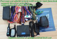 Puerta rasca el NUEVO sistema de alarma teledirigido keyless sin hilos Los telecontroles de la alarma de 2pcs FM LCD, la vibración y la alarma ligera recuerdan, automatización central de la cerradura