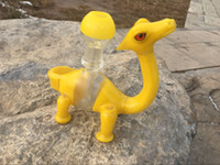 Wholesale Dinosaur Hookah glass bongs Rigs oil rigs dab rigs with male polished joint mmt