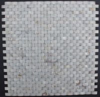 Wholesale 3D Arch braid Weave Mother of Pearl Shell Wall Tile Mosaic Slabs